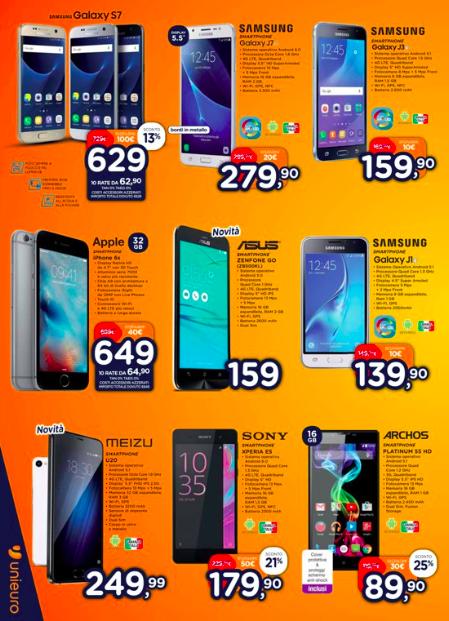 Smartphone Unieuro sino al 24 Novembre 2016